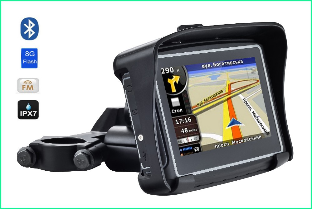 motorcycle gps navigation 4 touch capacitive cortex a7 ipx7 waterproof add 8gb flash support. Black Bedroom Furniture Sets. Home Design Ideas
