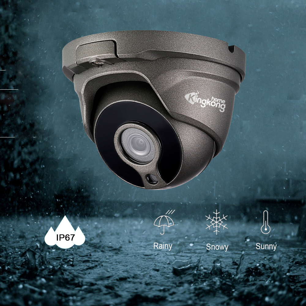 Kingkonghome 4MP Security POE IP Camera Metal Waterproof H.265 Video Surveillance Outdoor Day/Night Vision CCTV ONVIF Dome Cam