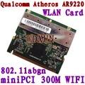 Atheros AR9220 miniPCI WiFi Card 300Mbps 2.4GHz/5GHz  802.11a/b/g/n