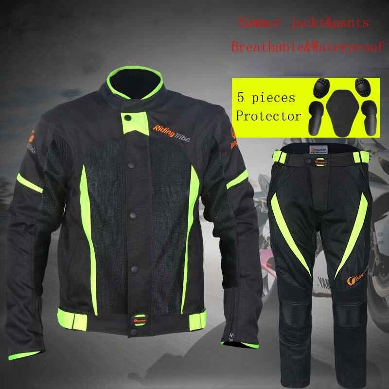 2017 équitation tribu imperméable moto vestes respirant Motocross pantalons Motos jaqueta chaqueta vêtements été printemps costumes