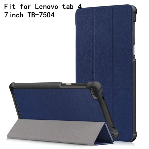 Folio cover case for Lenovo Tab4 Tab 4 7 inch TB-7504 TB-7504F TB-Lenovo Tab 7 TB-7504X(2017) Smart Cover (2017 release)+gift планшет tab4 tb 7504x 7 16gb black lte za380040ru lenovo