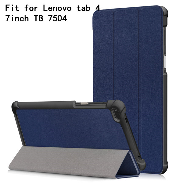 Folio cover <font><b>case</b></font> <font><b>for</b></font> <font><b>Lenovo</b></font> Tab4 <font><b>Tab</b></font> 4 <font><b>7</b></font> inch TB-7504 TB-7504F TB-<font><b>Lenovo</b></font> <font><b>Tab</b></font> <font><b>7</b></font> TB-<font><b>7504X</b></font>(2017) Smart Cover (2017 release)+gift image