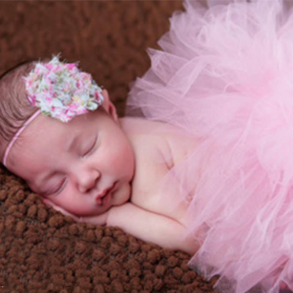 New Born Girls Photography Props Handmade Purple Baby Tutu Skirt And Headband 0-1y Baby Photography Props Photo Shoot New Accessories Hair Accessories