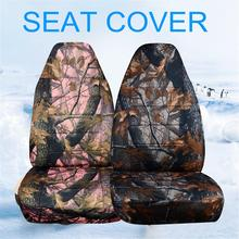 Hunting Camouflage Car Seat Cover Front Rear Auto For Jeep Honda Nissan Kia Volvo for SUV Off-Road Vehicles
