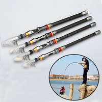 1.8M 2.4M 2.7M 3.0M 3.6M Portable Telescopic Fishing Rod carbon fishing fish pole Ocean Rod ultrashort Fishing Tackle