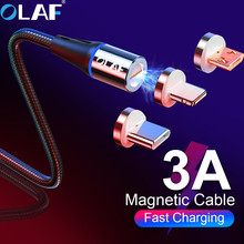 OLAF Magnetic Fast charge Quick charging 3.0 Micro USB Type C Cable For Samsung S8 S9 Plus  QC cable for Iphone X XR XS Max