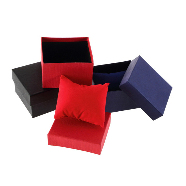 3 Colors Luxury Watch Box Leather Jewelry Wrist Watches Holder Display Storage B