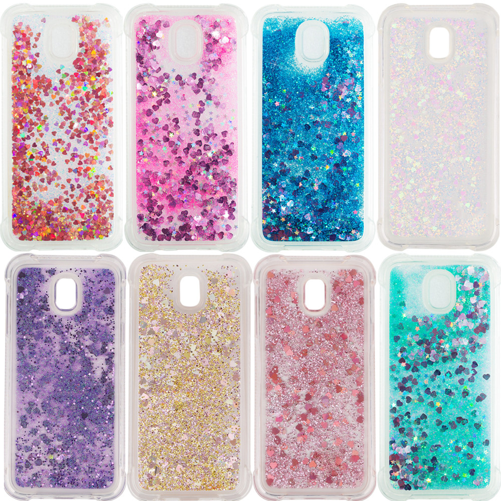 Bling Liquid Quicksand Case For Samsung Galaxy S7 Edge S8 S9 Plus A3 A5 A6 A7 J3 J5 <font><b>J7</b></font> 2016 2017 A8 Plus 2018 TPU Glitter Cover image