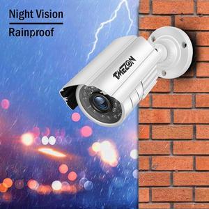 Image 4 - Tmezon cctv sistema 8ch, 4 peças 720p, exterior, à prova de intempéries, câmera de segurança 8ch 1080p dvr, kit dia/noite sistema de vigilância por vídeo