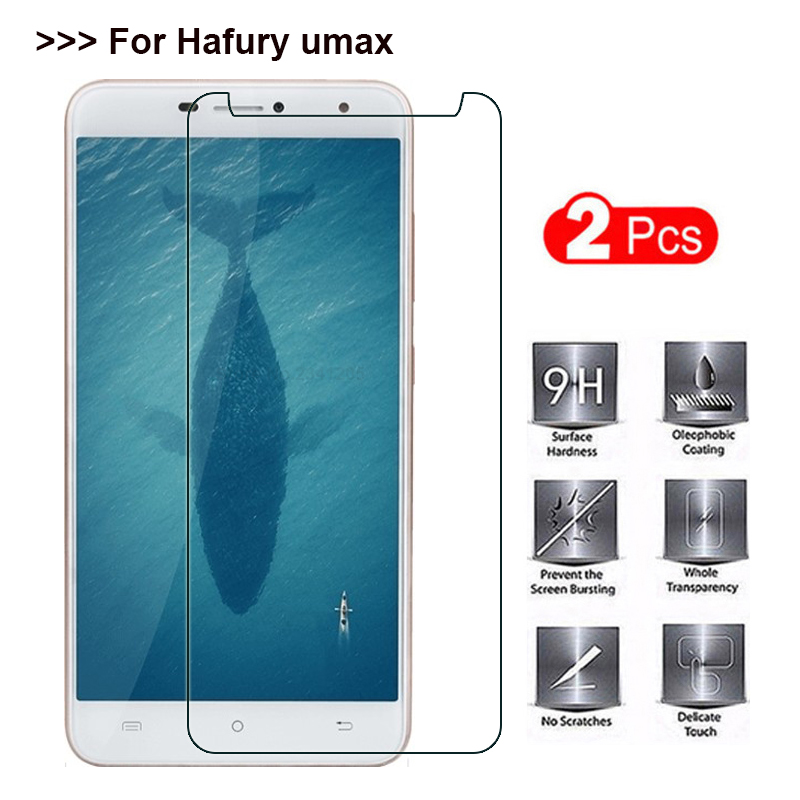 2PCS Tempered Glass For Hafury Umax Screen Protector 9H Explosion-proof Protective Glass Cover Film For Hafury Umax 6.0 Inch