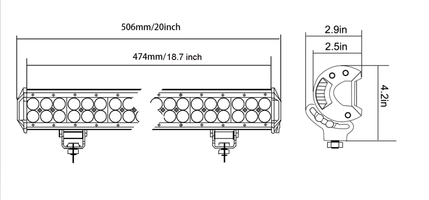 126W 20inch led light bar 4x4