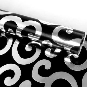 Luxury Europen Silver Black Geometria Wallpaper Roll Tv Background Wallpapers For Living Room