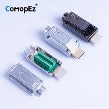 HD HDMI видео конвертер 2,0 Solderless разъем HDMI Мужской мини кабель адаптер для монитора и проектора