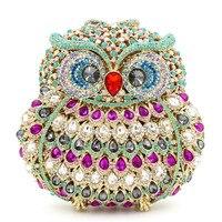Животных Сова вечерняя сумочка; BS010 для Для женщин роскошный кристалл коктейльное вечерние кошелек сумочка высокого класса полный алмазов
