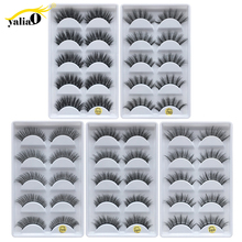 YALIAO 5 Pairs 3d Mink False Eyelashes Natural Long Thick Eyelash Handmade Eyes Lash High Quality Lashes For Beauty