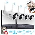 ZOSI 4CH CCTV Система 960 P NVR 4 ШТ. 1.3 МП ИК Открытый P2P Беспроводной Wi-Fi Ip-камера ВИДЕОНАБЛЮДЕНИЯ Система Видеонаблюдения Комплект 1 ТБ HDD