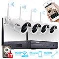 Zosi sistema de cctv 4ch 960 p nvr 4 pcs 1.3 mp ir ao ar livre P2P Sem Fio Wi-fi IP CCTV Câmera de Segurança Sistema de Vigilância Kit 1 TB HDD