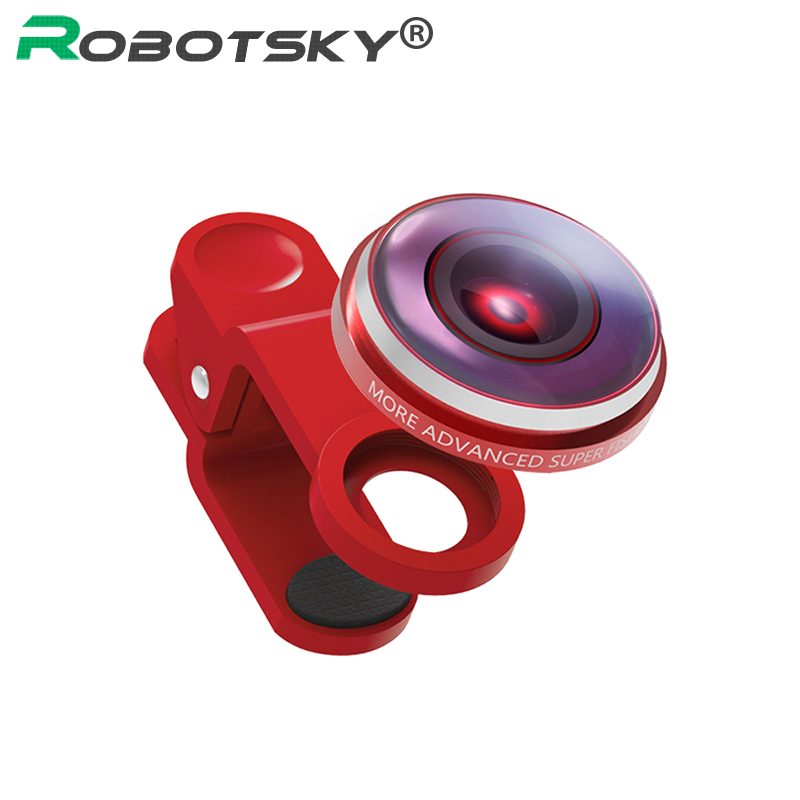 Portable Fish Eye Lens For Mobile Phone 235 Degree Fisheye Camera Lenses Wide Angle Phone Accessaries for iPhone Samsung Xiaomi