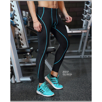 Athletic Sports Leggings Fitness Running Pant Compression Tights Quick Dry Elastic Pants Man Basketball Training Base