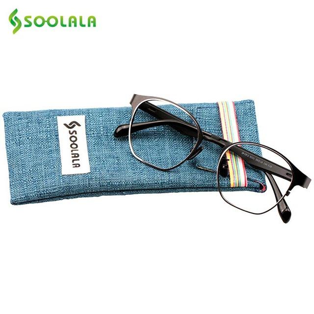 Soolala oculos vintage gafas miopía marco gafas lente transparente gafas de montura de gafas mujeres hombres anteojos marco de los vidrios ópticos