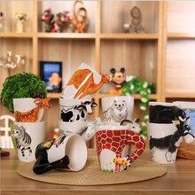 Cartoon Ceramic Cup Creative 3D Animal Mug Kitty Coffee Funny Orangutan Cute Milk The Elephant Stereo Tea Best Gift