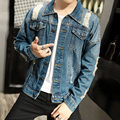 2016 Men's  Fashion Short Paragraph Slim  Jacket  fashion Youth Spring And Autumn Denim Jacket Cool Hansome Male
