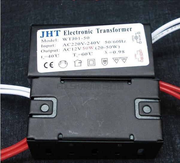 1 peça 20 W-50 W AC 220 V Luz de Halogéneo LED Driver Eletrônico Transformador AC12V G4 MR11 GU5.3 Grânulo Da Lâmpada MR16 Transformador