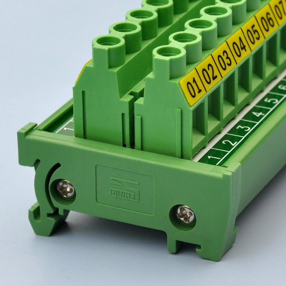 Din Rail Mount 30a 300v 20 Position Screw Terminal Block Fuse Holder Box Distribution Module In Blocks From Home Improvement On Alibaba Group