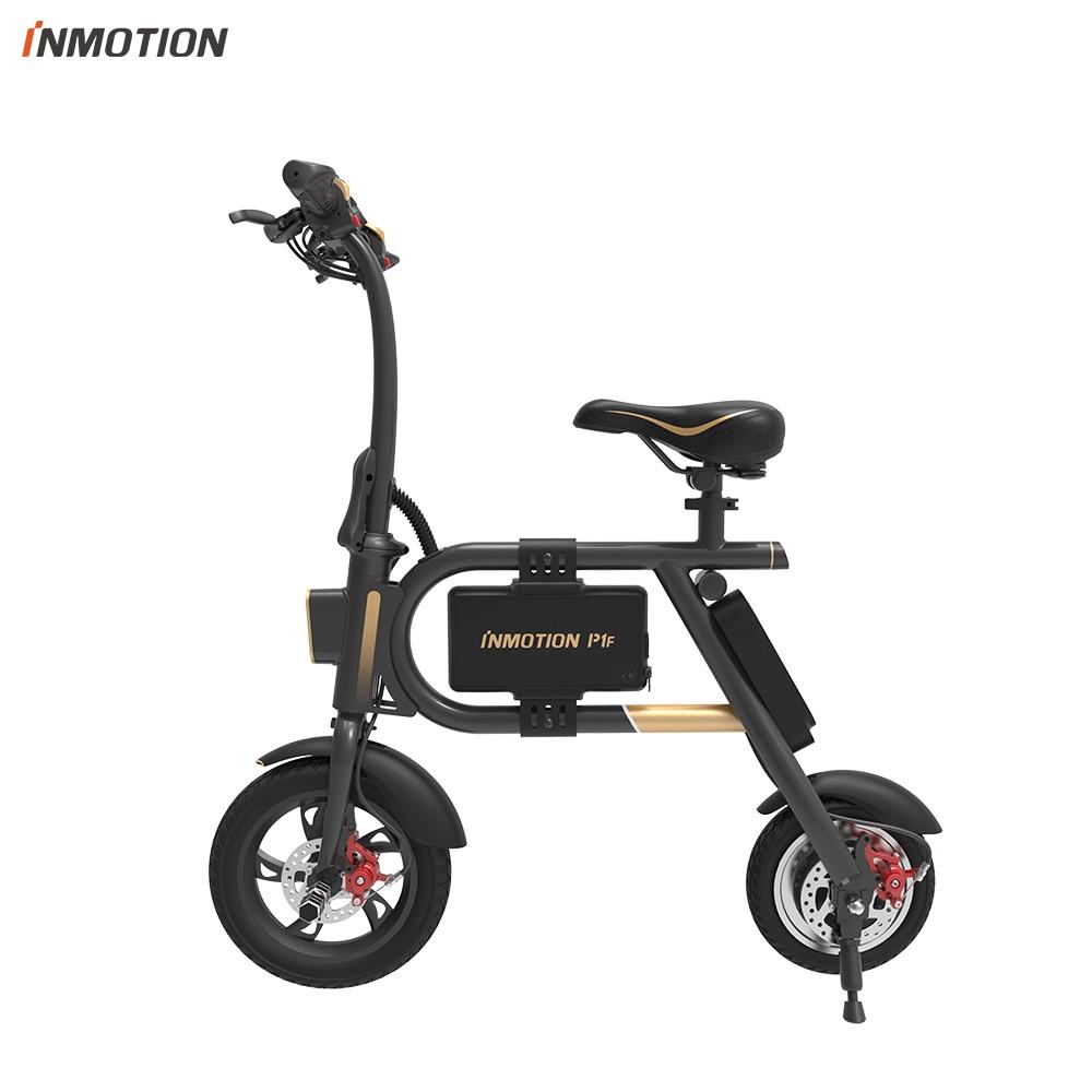 INMOTION P1F EBIKE bicicleta plegable Mini bicicleta Scooter Eléctrico batería de iones de litio 350 W CE RoHS FCC