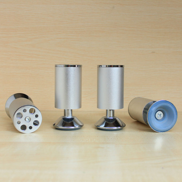 4 stücke metallbeine möbel küchenschrank füße aluminium 4 1/2 \