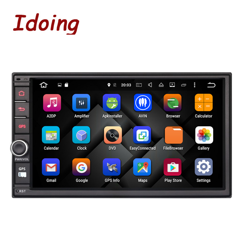 Idoing 2GB RAM Steering-Wheel Universal 2Din Android 6.0 Car DVD Multimedia Player GPS Built-in 3G Dangle 1024*600 Radio wifi