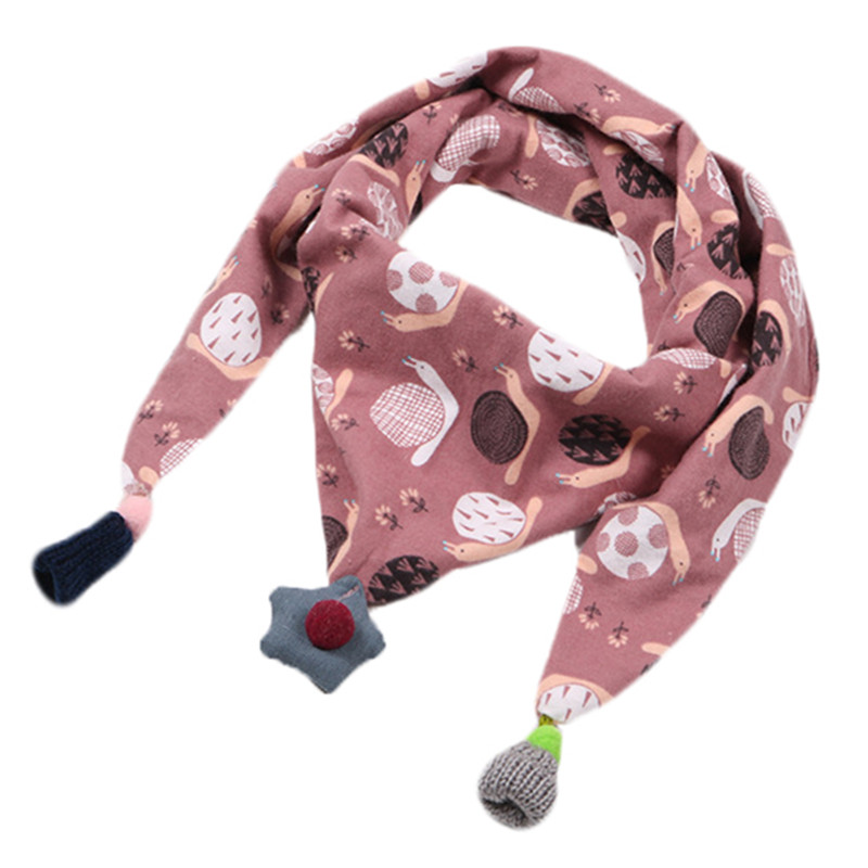 d8189b02da Mouse over to zoom in. New Autumn Winter Baby Girls Triangle Scarf Cartoon  Spring Baby Boys ...
