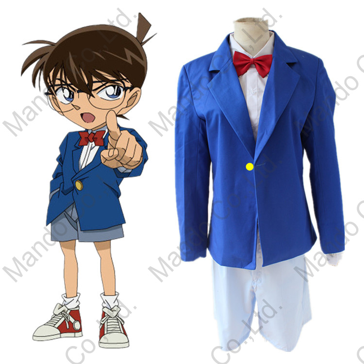 Anime Detective Conan Case Closed Kudou Shinichi Conan Cosplay Costumes kids or Mens sch ...