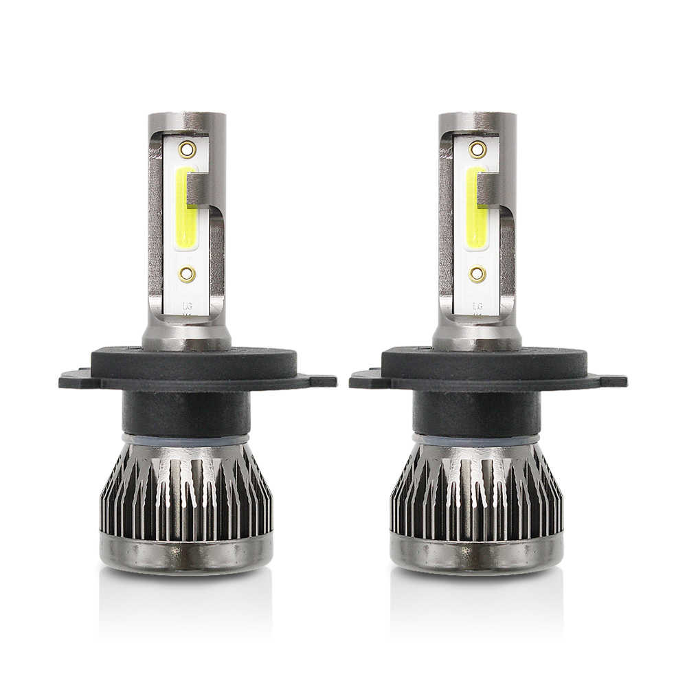 2pcs 72W H4 Hi/Lo Mini LED H1 H7 H11 9005 9006 Car Headlight Bulb 12V COB LED Auto Headlamp Conversion Kit 6000K