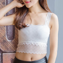 2019 Droppshiping Sexy Women Lace Bralette Bralet Bra Bustier Crop Top Floral Comfortable Padded Tank Tops BFJ55