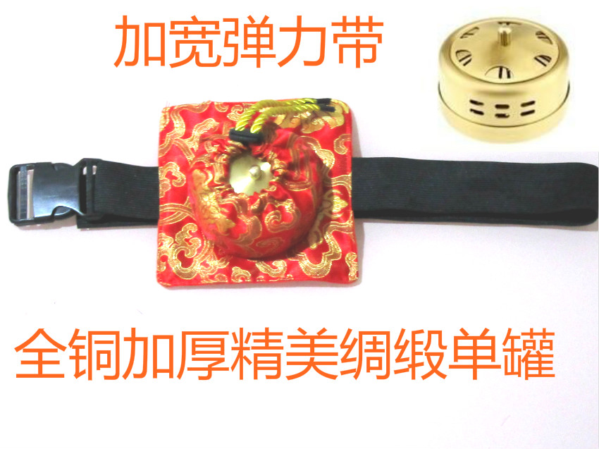 Thickening pure moxa roll utensils copper box wormwood portable moxibustion moxa tank thickening of the whole pure copper