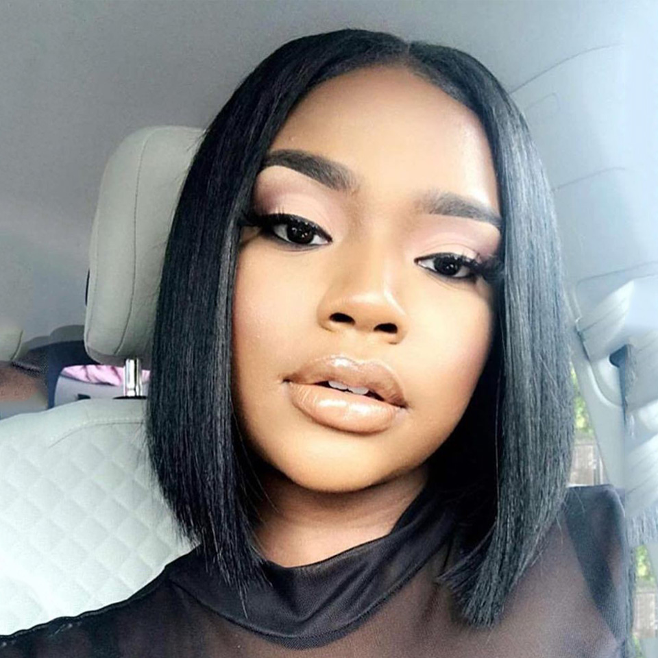 Sleek Bob Lace Front Wigs Brazilian Lace Front Human Hair Wigs For Women Short Bob Wigs Ombre Human Hair Bob Wigs Free Shipping-in Part Lace Wigs from Hair Extensions & Wigs    1