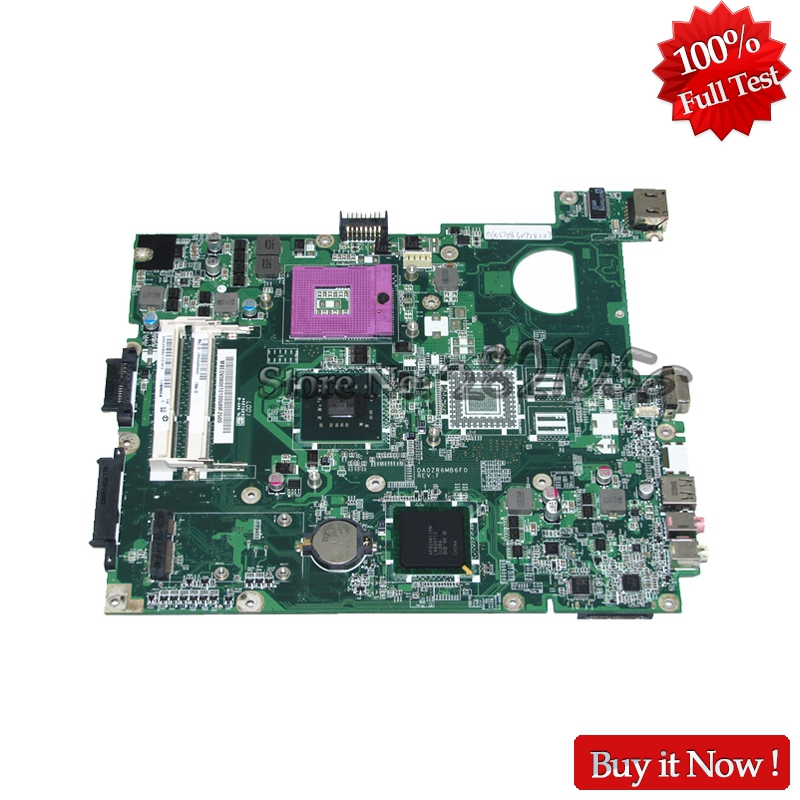 NOKOTION new For Acer extensa 5635 5235 Laptop Motherboard MBEDV06001 DA0ZR6MB6F0 REV F GL40 DDR3 Free CPU
