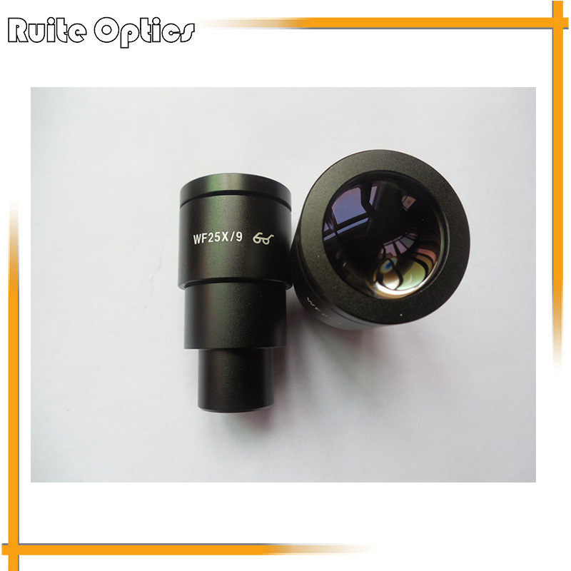 Pair of Stereoscopic microscope WF25x high eye point wide angle eyepiece with field of view 9mm interface 30mm цена