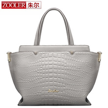 ZOOLER women leather bag alligator pattern genuine leather bag large capacity elegant shoudler bag bolsa feminina sales!!#1312