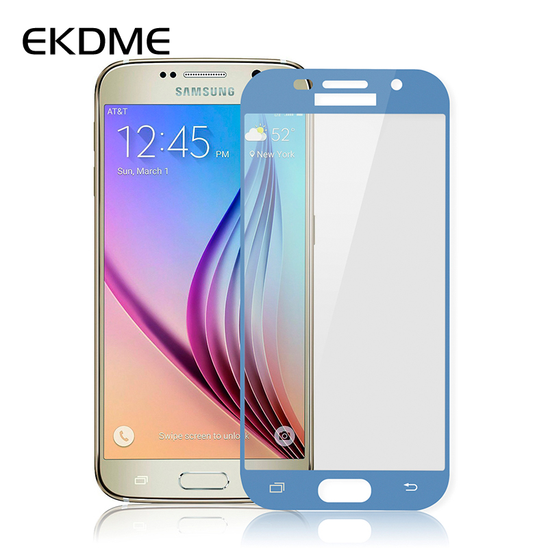 EKDME <font><b>Full</b></font> <font><b>Cover</b></font> Safety <font><b>Glass</b></font> For <font><b>Samsung</b></font> <font><b>Galaxy</b></font> A3 A7 J5 <font><b>2016</b></font> S7 S6 S5 S4 <font><b>A5</b></font> 2017 Note 5 4 J7 J5 Prime Premium Tempered Film image