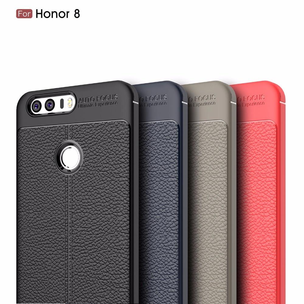 Для Huawei Honor 8 Чехол роскошный мягкий ТПУ кремния тонкий сзади защитить кожу ультра тонкий телефон чехол для Huawei Honor 8 назад Чехол