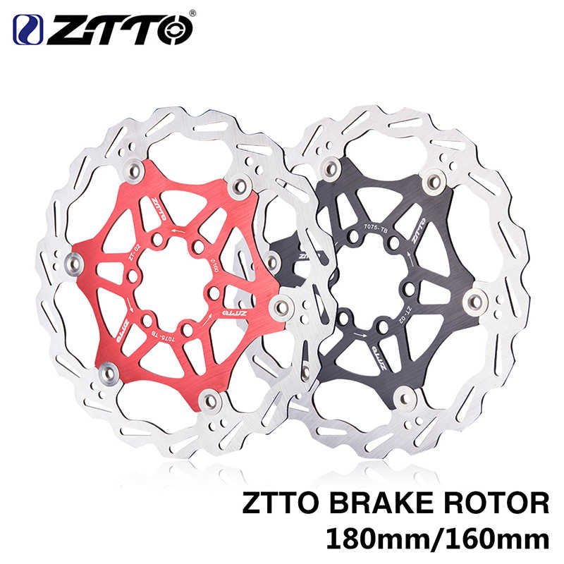 ZTTO MTB Road bike Disc Brake Floating Rotor 160mm/180mm Stainless Steel Brake Disc Compatible Metallic Pads For MTB Road Bike