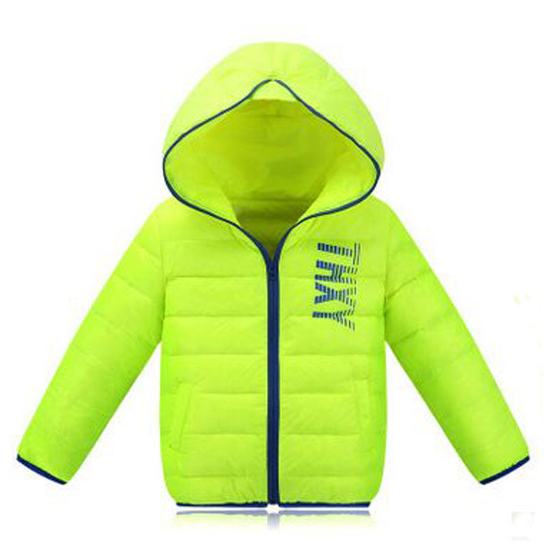 2016 Children Boys & Girls Down Jacket Coat Short Autumn And Winter Jacket Girls For 4-10 year