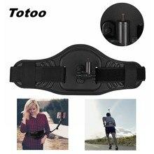 Cinto wearable cintura barra traseira monopé suporte de montagem para gopro hero 5 6 7 8 9 max insta360 um x2 r yi 4k + selfie vara adaptador