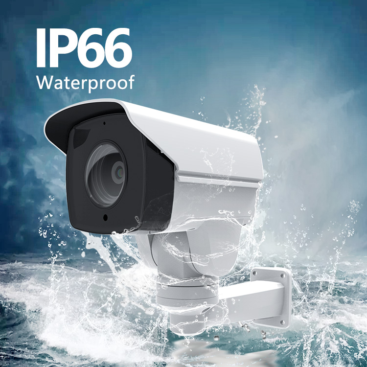 2MP 10X Zoom IP Network CCTV security POE Bullet PTZ Camera and alarm audio