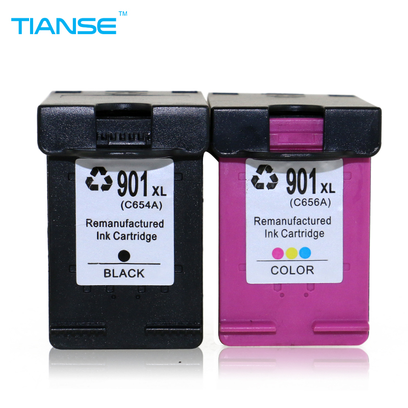 2PK 901XL Black//Color Ink Cartridge For HP 901 Officejet J4640 J4660 J4680 4500