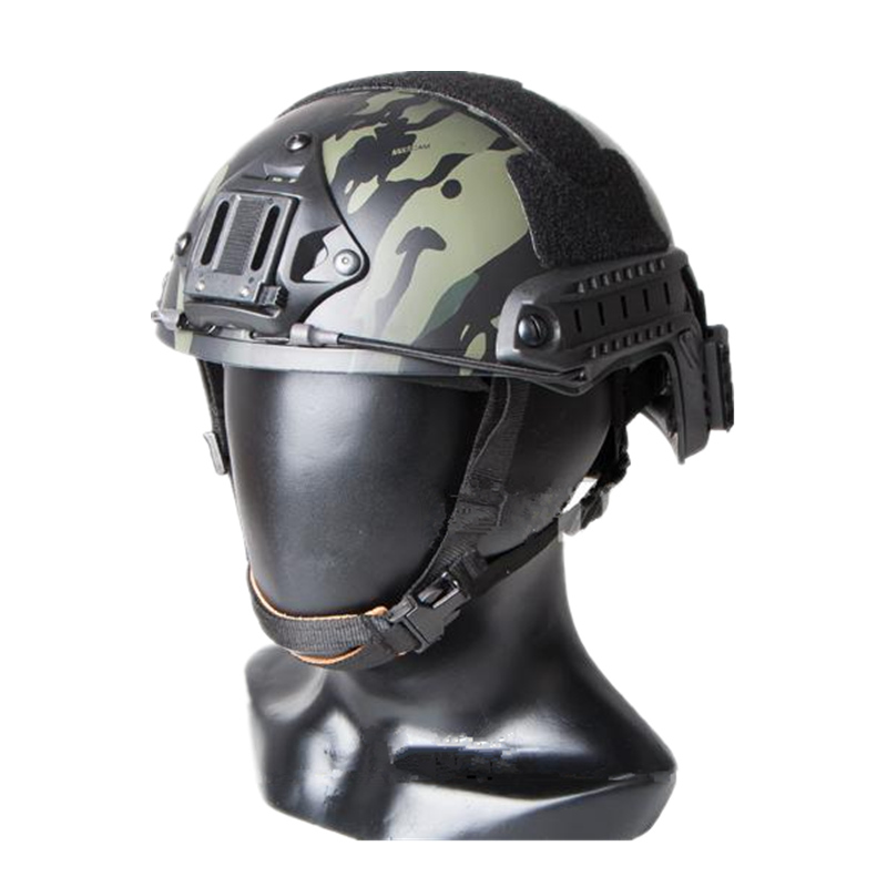 Tactical Ballistic Helmet Sports Helmet For Airsoft Paintball ABS Cycling Helmet Multicam Black Size M L