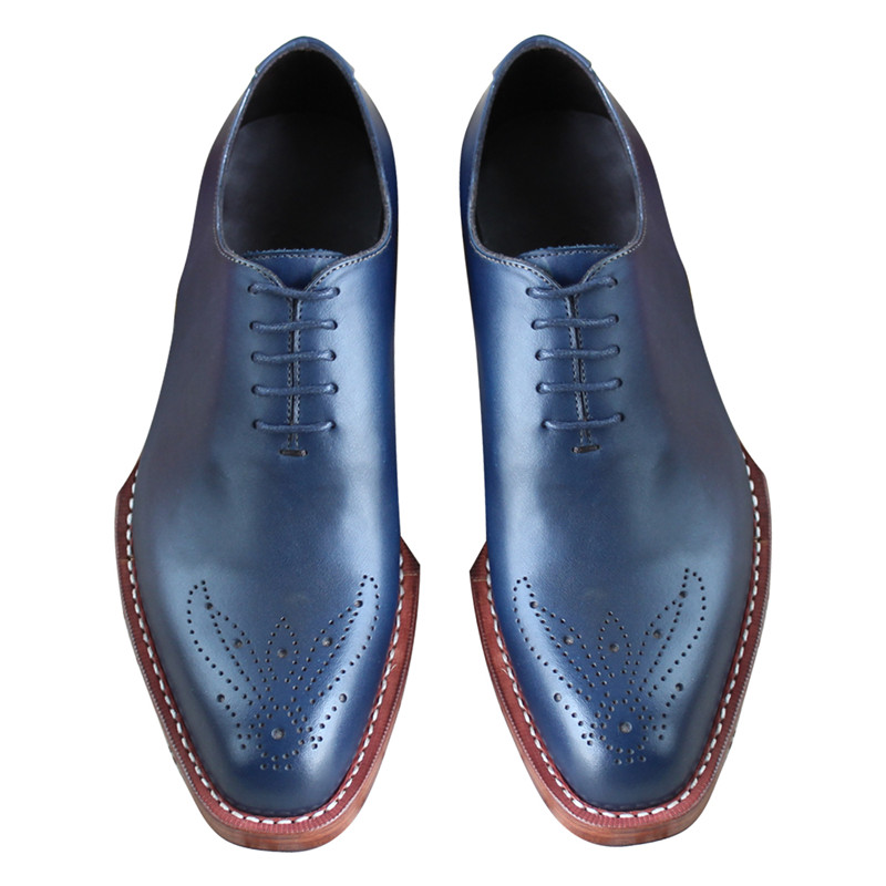MALONED Bespoke Double Leather Bottom Sole Goodyear Handcraft Genuine Leather Oxfords Flat Business Formal Dress Shoes for Men skp151custom made goodyear 100% genuine leather handmade brogue shoes men s handcraft dress formal shoes large plus size