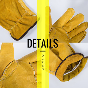 Image 5 - OZERO New Mens Work Gloves Cowhide Driver Security Protection Wear Safety Workers Welding Moto Gloves For Men 1008